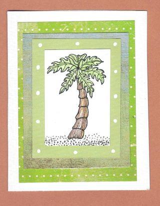 Notecard - palm tree