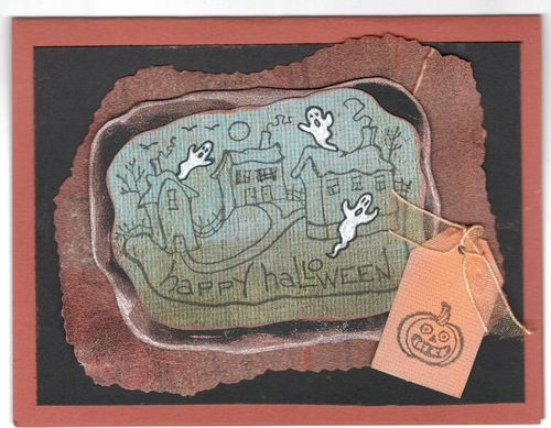 Sandpaper Halloween card